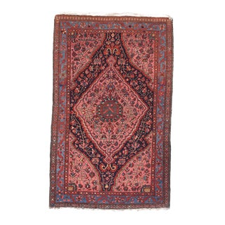 """19th Century Antique Malayer Persian Rug-3'2"""" X 5'1"""" For Sale"""