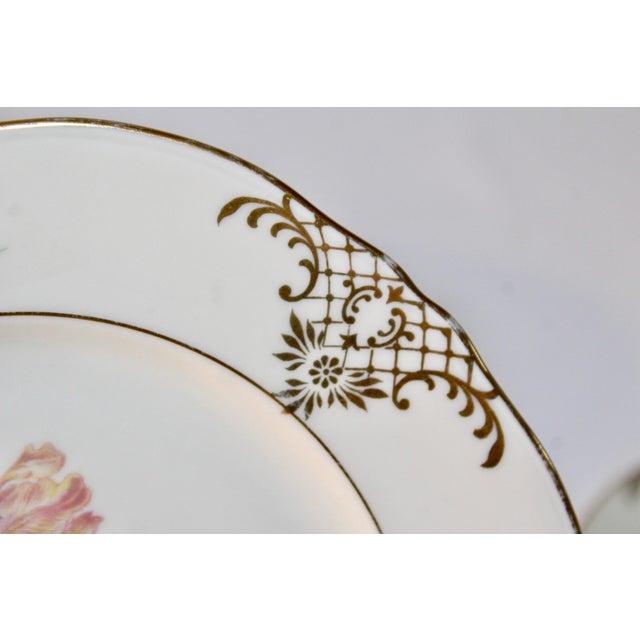 Set of 13 Floral Porcelain Czechoslovakian Epiag Dessert/Bread Plates - Image 8 of 11