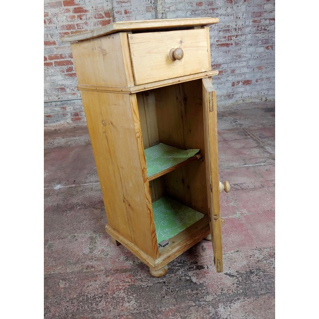 Wood Antique Pine Cabinet Stand For Sale - Image 7 of 10