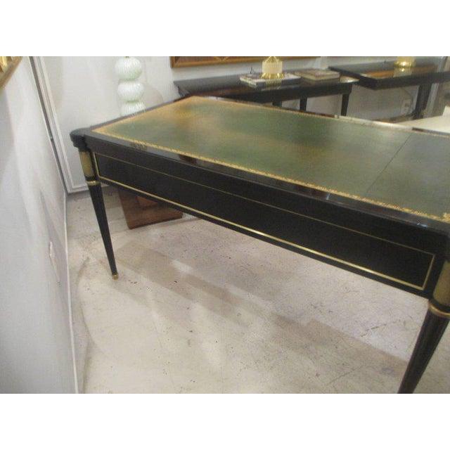 1950s French Directoire-Style Ebonized Bureau Plat Desk For Sale - Image 5 of 8