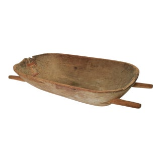 Antique Barn Wooden Scalding Trough Animal Feeder, Planter For Sale