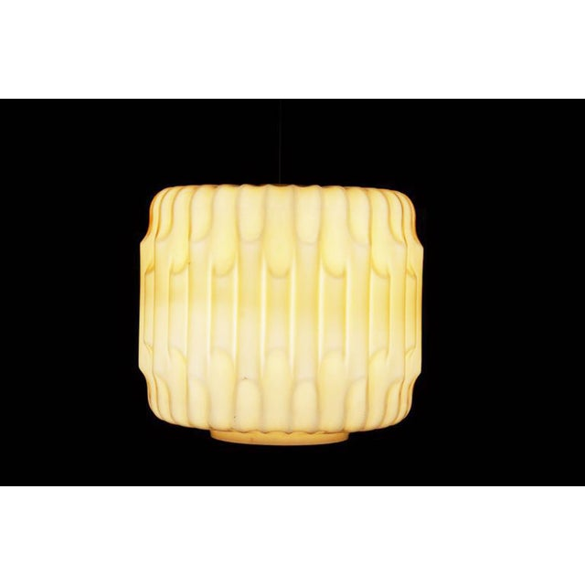 Mid-Century Modern Large Mid-Century Glass Hanging Lamp, 1960s For Sale - Image 3 of 8