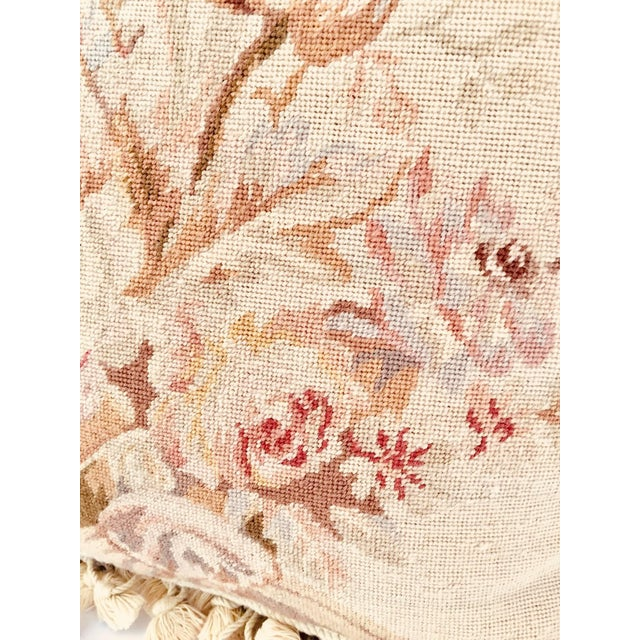 French Provincial Aubusson Style Throw Pillow For Sale In Los Angeles - Image 6 of 9
