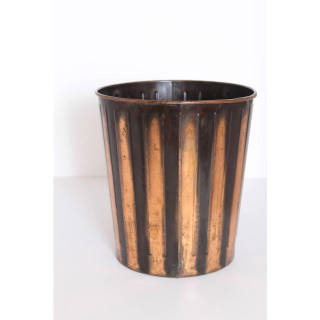 1920s Machine Age Art Deco Industrial Arts Waste Receptacle by Erie Art Metal For Sale - Image 5 of 11