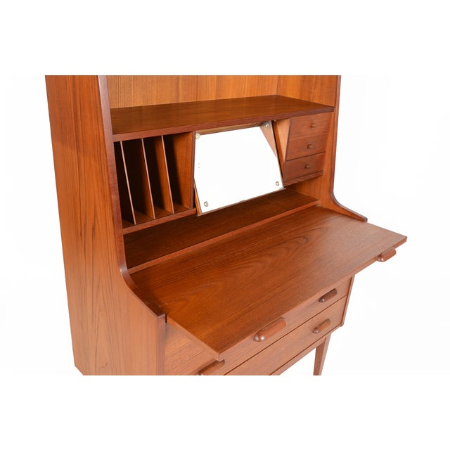 Danish Modern Secretary With Bookcase in Teak - Image 7 of 9