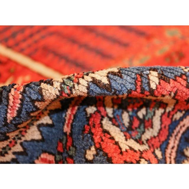 Beautiful Rusty Red Background Antique Heriz Persian Rug 49291, Country of Origin / Rug Type: Persian Rug, Circa Date:...