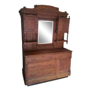 20th Century Traditional Hutch with Murphy Bed For Sale