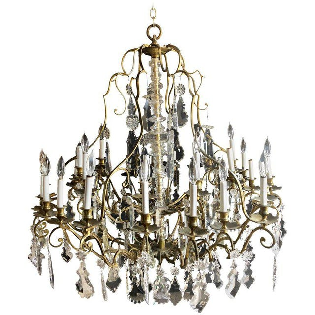 Bronze and Crystal Palatial Thirty-Light Chandelier For Sale - Image 13 of 13