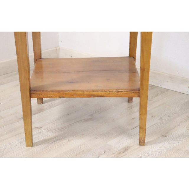 18th Century Italian Louis XVI Cherry Wood Side Table For Sale - Image 6 of 13
