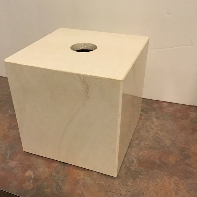 Maitland - Smith Maitland Smith Tessellated Marble Stone Tissue Box Last Call For Sale - Image 4 of 6