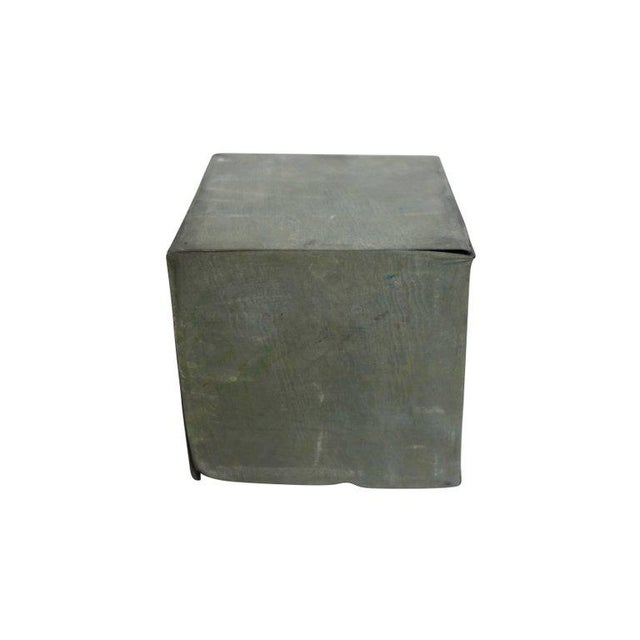 Metal 1920s Zinc Geometric Forms - Set of Four For Sale - Image 7 of 10
