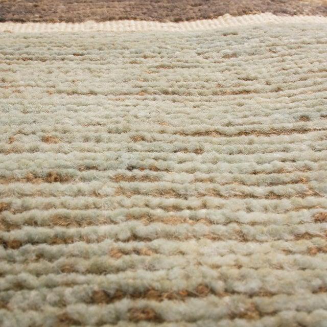 Rug & Kilim Rug & Kilim's Scandinavian-Inspired Geometric Gray and Blue Wool Pile Rug For Sale - Image 4 of 6