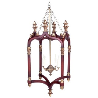 Gothic Style Carved and Giltwood Lantern For Sale