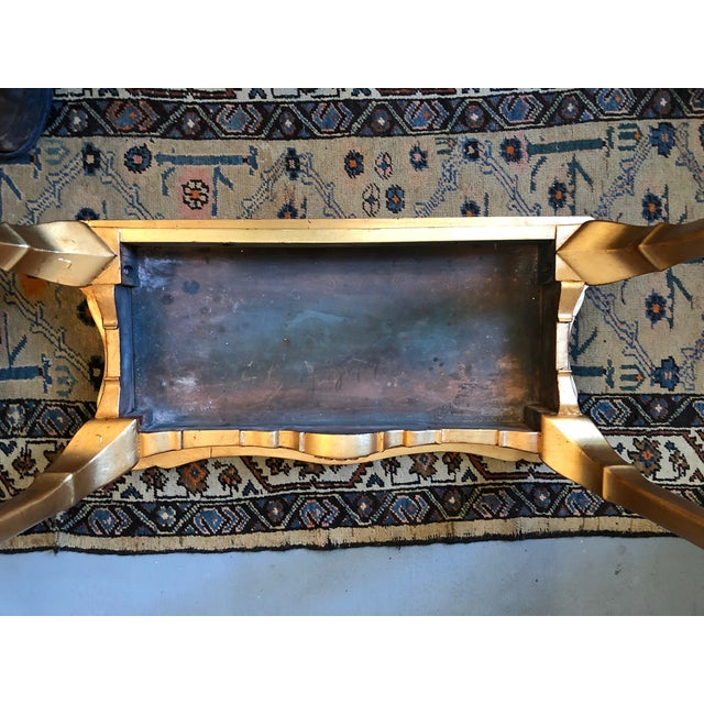 1900s French Gilt Leaf Turn of the Century Console Table For Sale - Image 11 of 12