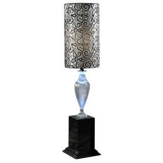 1980s Vintage Crystal Amphora Floor Lamp For Sale