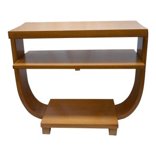 1930s Art Deco Maple Gilbert Rohde, Modernage Style U-Table For Sale