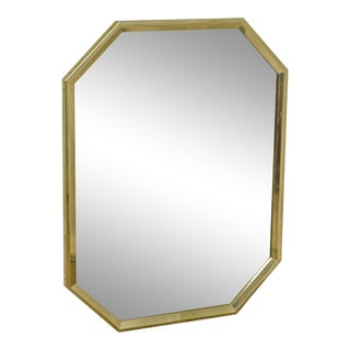 Friedman Brothers Brass Frame Octagon Beveled Wall Mirror