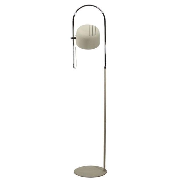 Italian Joe Colombo Style Chrome Floor Lamp For Sale