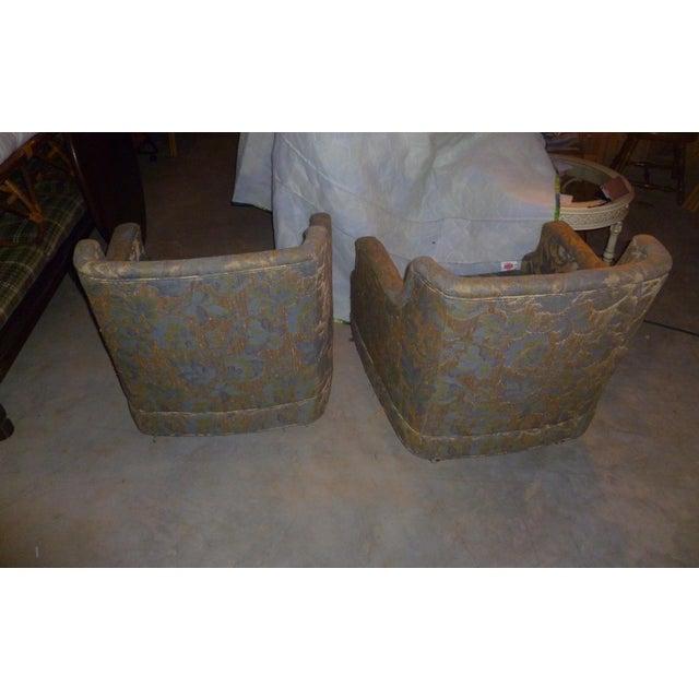Mid-Century Modern Vintage Henredon Barrel Tub 2 Club Chair Good Frames - a Pair Mid Century Modern MCM Offer For Sale - Image 3 of 10