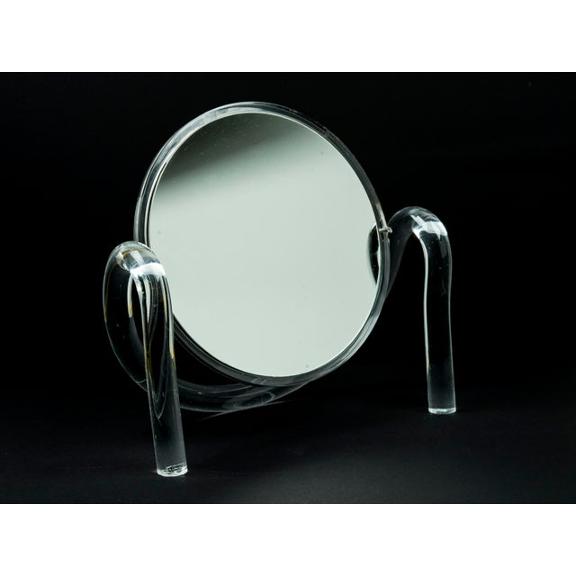 Mid Century Modern Dorothy Thorpe Lucite Tabletop Make-Up Mirror - Image 2 of 10