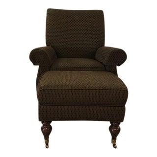 Contemporary Armchair and Ottoman Set