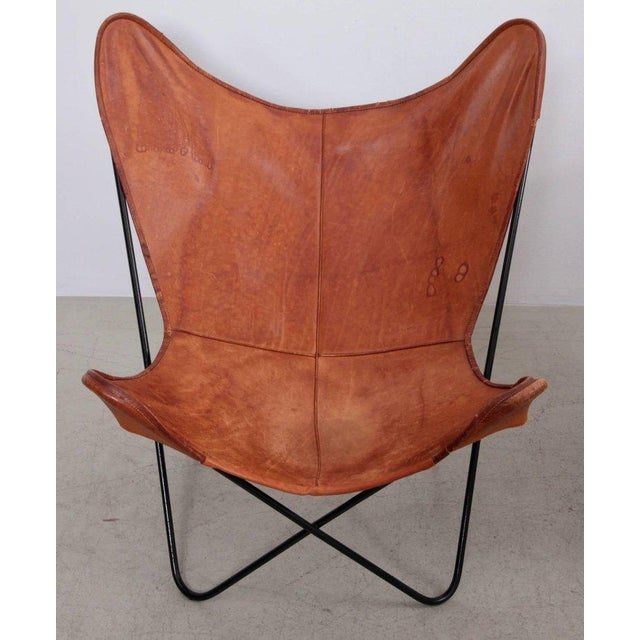 Mid-Century Modern Rare Matched Pair of Ferrari Hardoy Butterfly Chairs for Knoll For Sale - Image 3 of 9