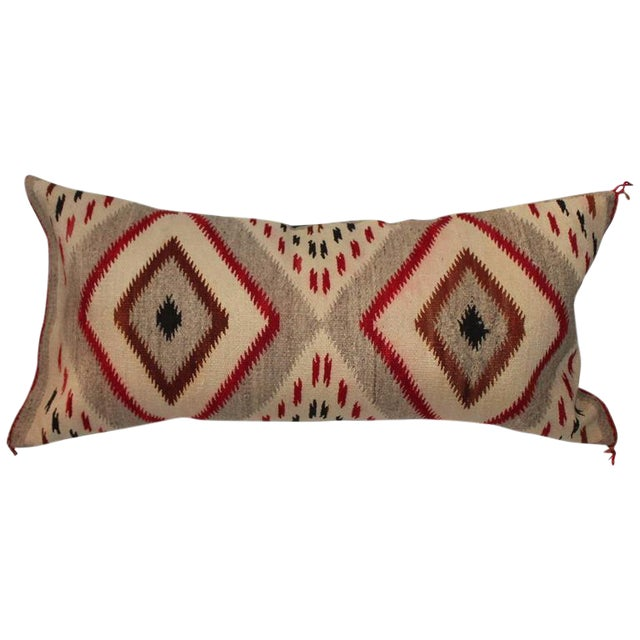 Monumental Navajo Weaving Eye Dazzler Pillow For Sale