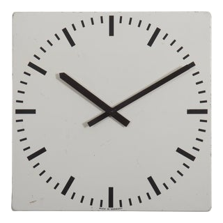Large Industrial Factory or Stration Clock For Sale