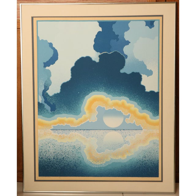 """1977 serigraph by noted surrealist artist Richard Gilbert, """"Age of Grace"""". Signed and numbered 22/120. in original frame..."""