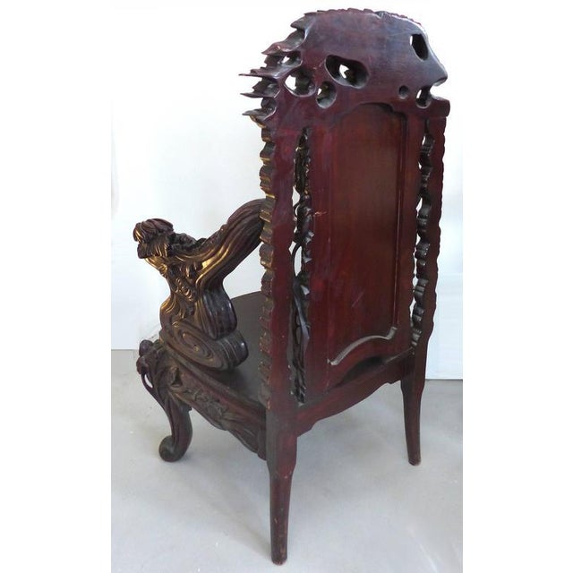 Late 19th Century Japanese Meiji Throne Chair For Sale - Image 10 of 11