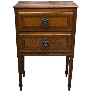 19th Century, Italian Walnut Louis XVI Style Side Cabinet For Sale