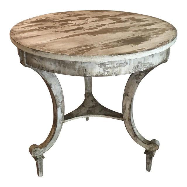 David Latesta Custom Hand Finished White Rustic Table For Sale