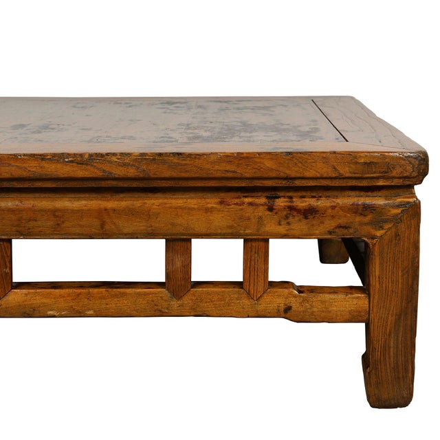 Coffee Antique Chinese Carved Kang Table/Coffee Table For Sale - Image 8 of 12