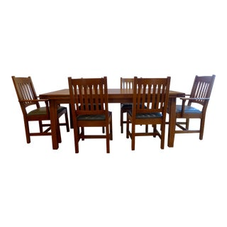 Stickley Mission Oak Dining Room Set