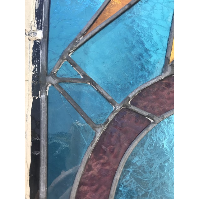 Antique Stained Glass Window, Circa 1900s For Sale In San Francisco - Image 6 of 12