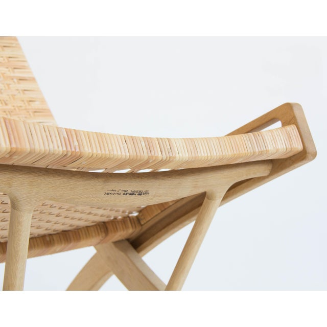 Pair of Oak and Cane Folding Lounge Chairs by Hans Wegner for PP Møbler For Sale - Image 11 of 11