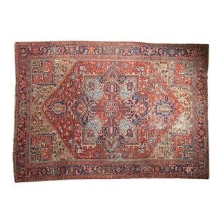 "Vintage Heriz Carpet - 8'6"" X 11'7"" For Sale"