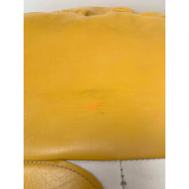 1970s White and Yellow De Sede Sneaker Bean Bag Chair or Ottoman For Sale - Image 9 of 12