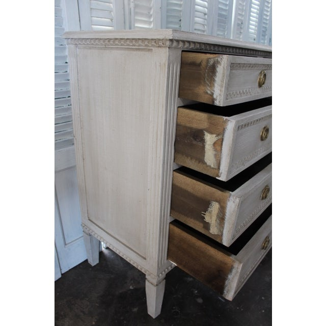 Metal 20th Century Gustavian Style Distressed Painted Sideboard For Sale - Image 7 of 8