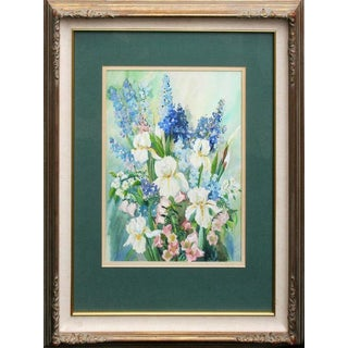 White Iris in Bouquet by Harriette Gale For Sale