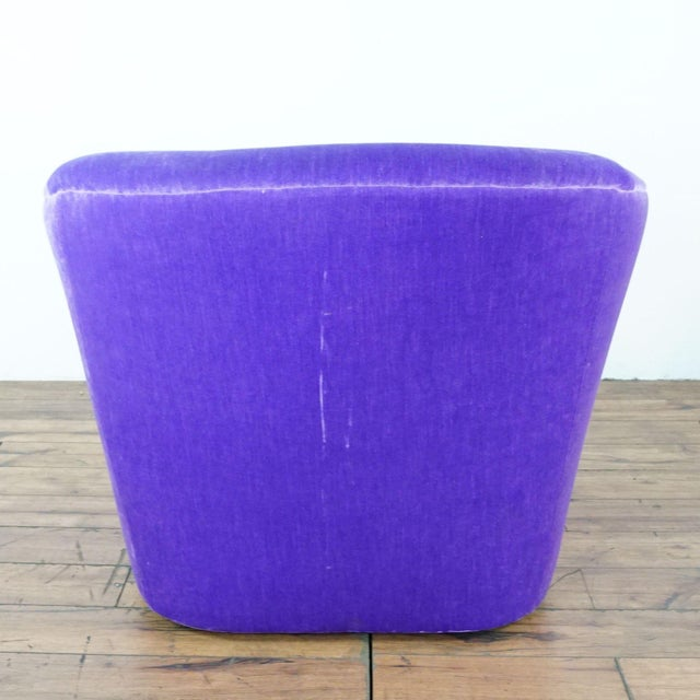 Textile Purple Upholstered Chairs- A Pair For Sale - Image 7 of 9