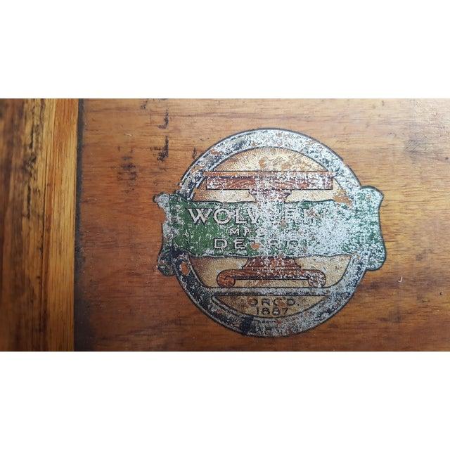 Mission Oak Arts Crafts Library Table Desk C.1900 For Sale - Image 6 of 6