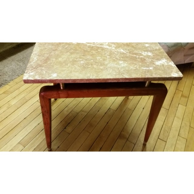 Mid Century Italian Floating Marble Top Table - Image 5 of 10