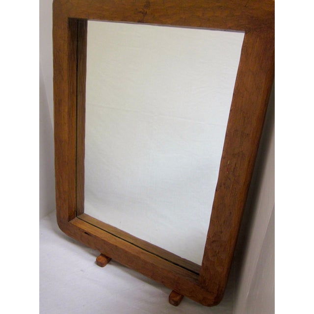 Rustic Carved Wooden Mirror - Image 8 of 10