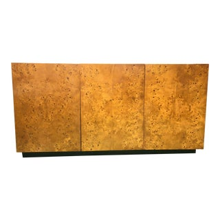Milo Baughman Burl Wood Credenza For Sale