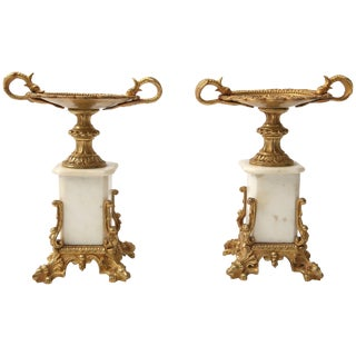 19th Century Napoleon III Style Fireplace Garnitures in Gilt Gold - a Pair For Sale