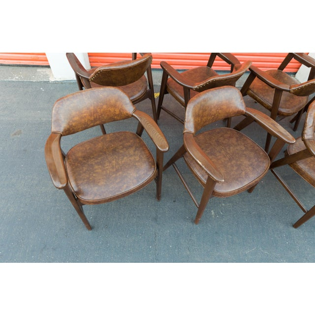Mid Century Modern Paoli Walnut Armchairs - Set of 8 For Sale - Image 10 of 11