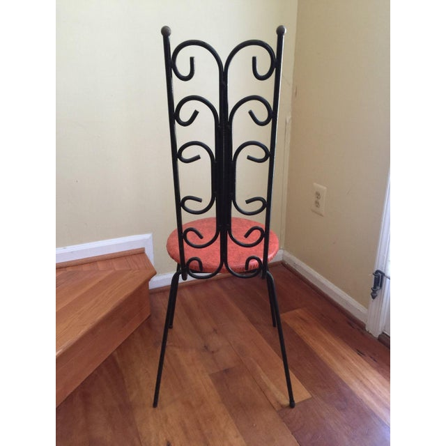 Salterini Style MCM Vintage Wrought Iron Chair - Image 3 of 6