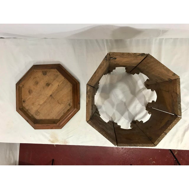 Brown Syrian Octagonal Folding Traveling Table For Sale - Image 8 of 9