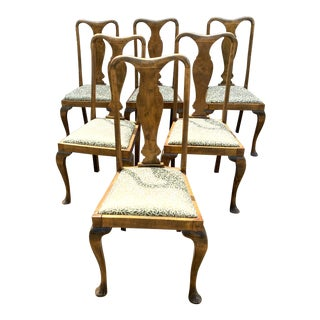 Vintage Queen Anne Chairs - Set of 6 For Sale